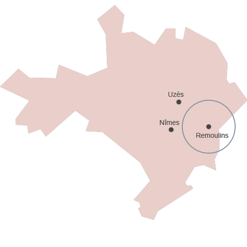 carte du gard rose